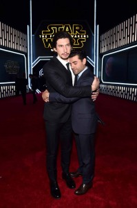 Adam Driver and Oscar Isaac at the World Premiere of Star Wars: The Force Awakens held at TCL Chinese Theatre, Hollywood Blvd, Los Angeles, CA on December 14, 2015.