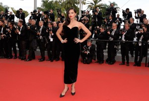 Adriana Lima attends the French film premiere of Sicario during 68th Annual Cannes Film Festival on May 19, 2015.