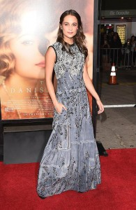 Alicia Vikander attends the Los Angeles film premiere of The Danish Girl held at Westwood Village Theatre, Broxton Ave, CA on November 21, 2015.
