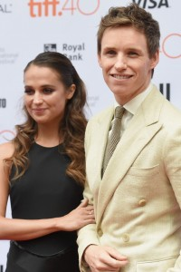 Alicia Vikander and Eddie Redmayne attend the Canadian film premiere of The Danish Girl during 2015 Toronto International Film Festival on September 12, 2015.
