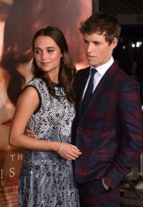Alicia Vikander and Eddie Redmayne attend the Los Angeles film premiere of The Danish Girl held at Westwood Village Theatre, Broxton Ave, CA on November 21, 2015.