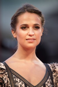 Alicia Vikander attends The Danish Girl film premiere during 72nd Venice International Film Festival on September 4, 2015.