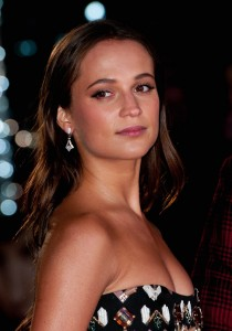 Alicia Vikander attends the U.K. film premiere of The Danish Girl held at Odoen cinema, Leicester Square, London on December 8, 2015.