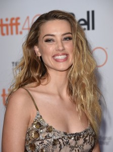 Amber Heard attends the Canadian film premiere of The Danish Girl during 2015 Toronto International Film Festival on September 12, 2015.