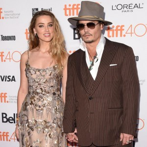 Amber Heard and Johnny Depp attend the Canadian film premiere of The Danish Girl during 2015 Toronto International Film Festival on September 12, 2015.
