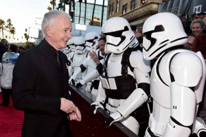 Anthony Daniels at the World Premiere of Star Wars: The Force Awakens held at TCL Chinese Theatre, Hollywood Blvd, Los Angeles, CA on December 14, 2015.