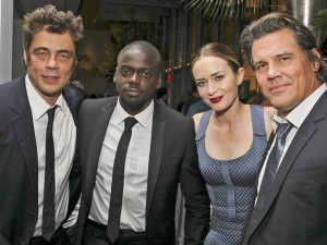 Benicio del Toro, Daniel Kaluuya, Emily Blunt and Josh Brolin attend the New York film premiere of Sicario held at the Museum of Modern Art, NYC on September 14, 2015.
