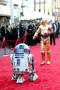 CP-3O and R2-D2 at the World Premiere of Star Wars: The Force Awakens held at TCL Chinese Theatre, Hollywood Blvd, Los Angeles, CA on December 14, 2015.