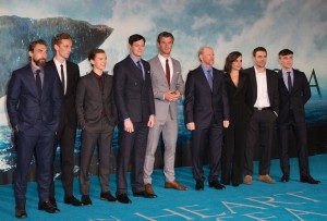 The cast of In the Heart of the Sea at the European premiere held at Empire Cinema, Leicester Square, London on December 2, 2015.