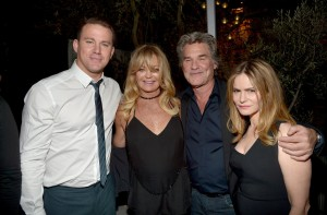 Channing Tatum, Goldie Hawn, Kurt Russell and Jennifer Jason Leigh attend the Los Angeles film premiere of The Hateful Eight held at ArcLight Cinemas, Sunset Blvd on December 7, 2015.
