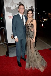 Channing Tatum and wife Jenna Dewan Tatum attend the Los Angeles film premiere of The Hateful Eight held at ArcLight Cinemas, Sunset Blvd on December 7, 2015.