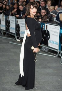 Pregnant Charlotte Riley attends the U.K. film premiere of Legend held at Odeon cinema, Leicester Square, London on September 3, 2015.
