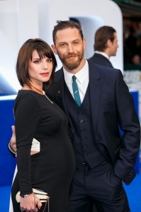 Charlotte Riley and Tom Hardy attend the U.K. film premiere of Legend held at Odeon cinema, Leicester Square, London on September 3, 2015.