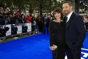 Pregnant Charlotte Riley and Tom Hardy attend the U.K. film premiere of Legend held at Odeon cinema, Leicester Square, London on September 3, 2015.