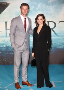 Chris Hemsworth and Charlotte Riley attend the European premiere of In the Heart of the Sea held at Empire Cinema, Leicester Square, London on December 2, 2015.
