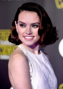 Daisy Ridley attends the World Premiere of Star Wars: The Force Awakens held at TCL Chinese Theatre, Hollywood Blvd, Los Angeles, CA on December 14, 2015.