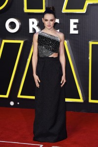 Daisy Ridley attends the UK film premiere of Star Wars: The Force Awakens held at Odeon and Empire Cinemas, Leicester Square London. (December 14, 2015)