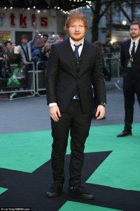 Ed Sheeran attends the world premiere of Ed Sheeran's Jumpers for Goalposts concert movie which was filmed live at wembley stadium. The premiere took place at Odeon cinema, Leicester Square, London on October 22, 2015.