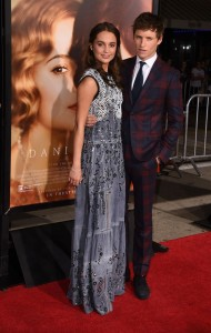Eddie Redmayne and Alicia Vikander attend the Los Angeles film premiere of The Danish Girl held at Westwood Village Theatre, Broxton Ave, CA on November 21, 2015.