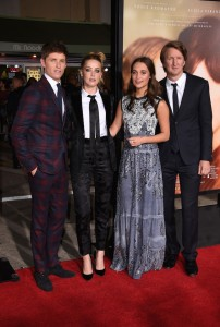 Eddie Redmayne, Amber Heard, Alicia Vikander and Director Tom Hooper attend the Los Angeles film premiere of The Danish Girl held at Westwood Village Theatre, Broxton Ave, CA on November 21, 2015.