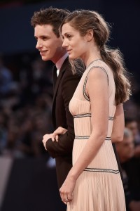 Eddie Redmayne and Hannah Bagshawe attend The Danish Girl film premiere during 72nd Venice International Film Festival on September 4, 2015.