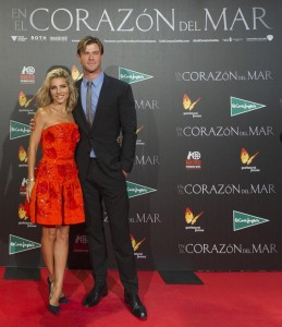 Elsa Pataky supports her husband Chris Hemsworth at the Madrid film premiere of In the Heart of the Sea held at Callao Cinema, Spain on December 3, 2015.