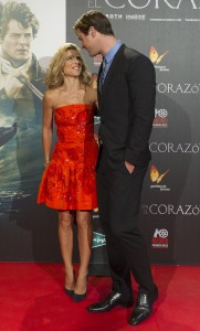 Chris Hemsworth is joined by his wife Elsa Pataky at the Madrid film premiere of In the Heart of the Sea held at Callao Cinema, Spain on December 3, 2015.