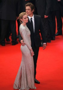 Emily Blunt and Benicio del Toro attend the French film premiere of Sicario during 68th Annual Cannes Film Festival on May 19, 2015.