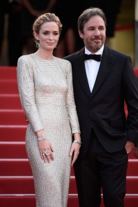 Emily Blunt and Denis Villeneuve attend the French film premiere of Sicario during 68th Annual Cannes Film Festival on May 19, 2015.