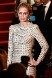 Emily Blunt attends the French film premiere of Sicario during 68th Annual Cannes Film Festival on May 19, 2015.