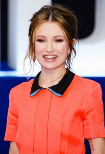 Emily Browning attends the U.K. film premiere of Legend held at Odeon cinema, Leicester Square, London on September 3, 2015.