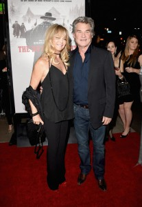 Goldie Hawn and Kurt Russell attend the Los Angeles film premiere of The Hateful Eight held at ArcLight Cinemas, Sunset Blvd on December 7, 2015.