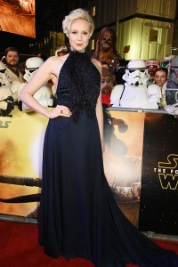 Gwendoline Christie attends the UK film premiere of Star Wars: The Force Awakens held at Odeon and Empire Cinemas, Leicester Square London. (December 14, 2015)