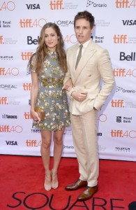 Hannah Bagshawe and Eddie Redmayne attend the Canadian film premiere of The Danish Girl during 2015 Toronto International Film Festival on September 12, 2015.