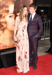 Eddie Redmayne and wife Hannah Bagshawe attend the Los Angeles film premiere of The Danish Girl held at Westwood Village Theatre, Broxton Ave, CA on November 21, 2015.