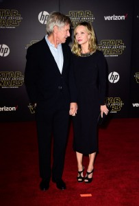 Harrison Ford and wife Calista Flockhart at the World Premiere of Star Wars: The Force Awakens held at TCL Chinese Theatre, Hollywood Blvd, Los Angeles, CA on December 14, 2015.