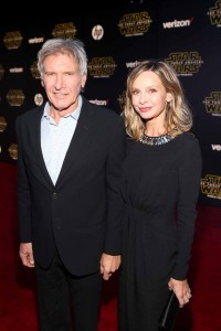 Harrison Ford and wife Calista Flockhart attend the World Premiere of Star Wars: The Force Awakens held at TCL Chinese Theatre, Hollywood Blvd, Los Angeles, CA on December 14, 2015.