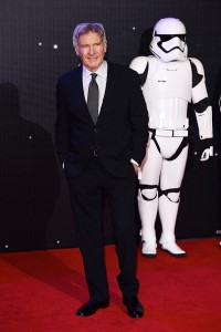 Harrison Ford attends the UK film premiere of Star Wars: The Force Awakens held at Odeon and Empire Cinemas, Leicester Square London. (December 14, 2015)