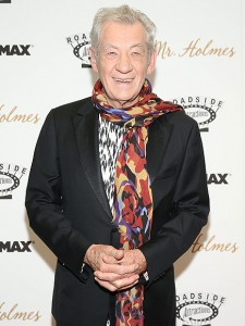 Ian McKellen attends the New York film premiere of Mr. Holmes held at the Museum of Modern Art, NYC on July 13, 2015.