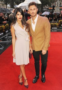 TOWIE's Jasmin Walia and boyfriend Ross Worswick attend the U.K. film premiere of Sicario held at Empire Cinema, Leicester Square, London on September 21, 2015.