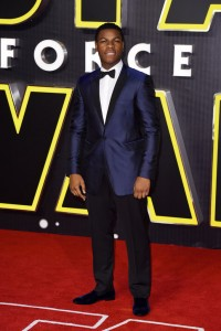 John Boyega attends the UK film premiere of Star Wars: The Force Awakens held at Odeon and Empire Cinemas, Leicester Square London. (December 14, 2015)