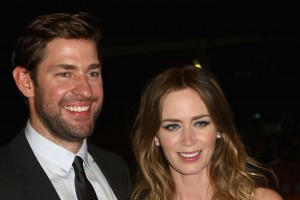 John Krasinki and Emily Blunt attend the Canadian film premiere of Sicario during 2015 Toronto International Film Festival on September 11, 2015.