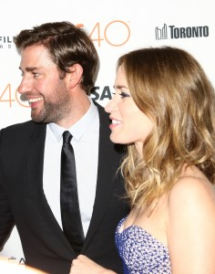John Krasinki and wife Emily Blunt attend the Canadian film premiere of Sicario during 2015 Toronto International Film Festival on September 11, 2015.