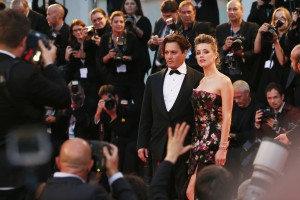 Johnny Depp and Amber Heard attend The Danish Girl film premiere during 72nd Venice International Film Festival on September 4, 2015.