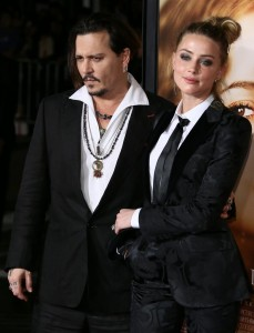 Newly-weds Johnny Depp and Amber Heard attend the Los Angeles film premiere of The Danish Girl held at Westwood Village Theatre, Broxton Ave, CA on November 21, 2015.