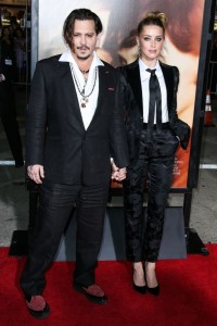 Johnny Depp and Amber Heard attend the Los Angeles film premiere of The Danish Girl held at Westwood Village Theatre, Broxton Ave, CA on November 21, 2015.