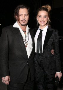 Johnny Depp and wife Amber Heard attend the Los Angeles film premiere of The Danish Girl held at Westwood Village Theatre, Broxton Ave, CA on November 21, 2015.
