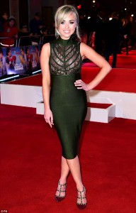I'm A Celeb finalist and Hollyoaks actress, Jorgie Porter attends the U.K. film premiere of Daddy's Home held at Vue West End, Leicester Square, London on December 9, 2015.