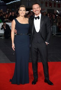 Kate Winslet and Michael Fassbender attend the U.K. film premiere of Steve Jobs held at Empire Cinema, Leicester Square, London on October 18, 2015.