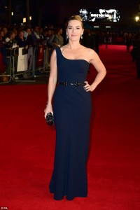 Kate Winslet attends the U.K. film premiere of Steve Jobs held at Empire Cinema, Leicester Square, London on October 18, 2015.